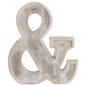 Decorative Ampersand with LED Lights