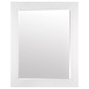 Miroir avec cadre à motifs