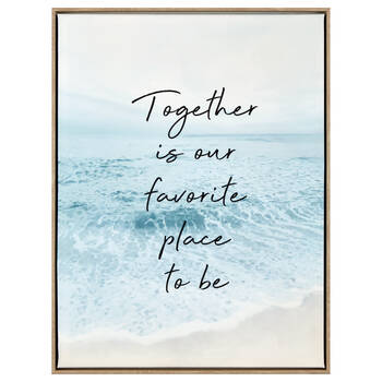 Beach and Inspiring Typography Framed Art