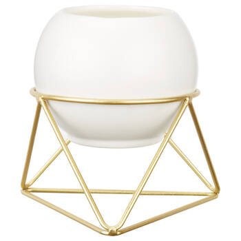 Candle with Geometric Stand