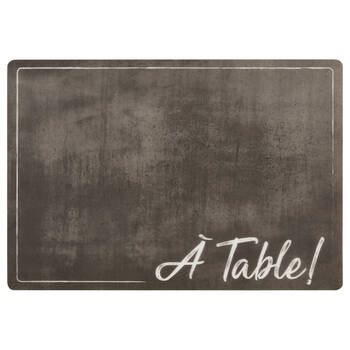Set of 4 À Table PVC Placemats
