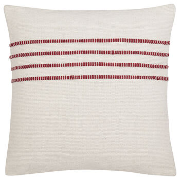 "Trina Embroidered Striped Decorative Pillow 19"" X 19"""