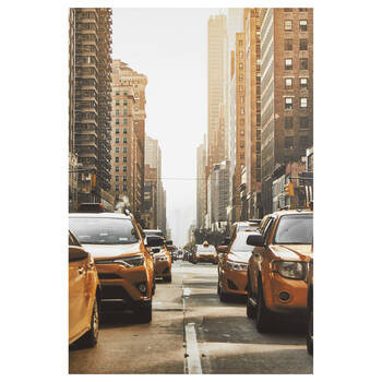 NYC Taxis Printed Canvas