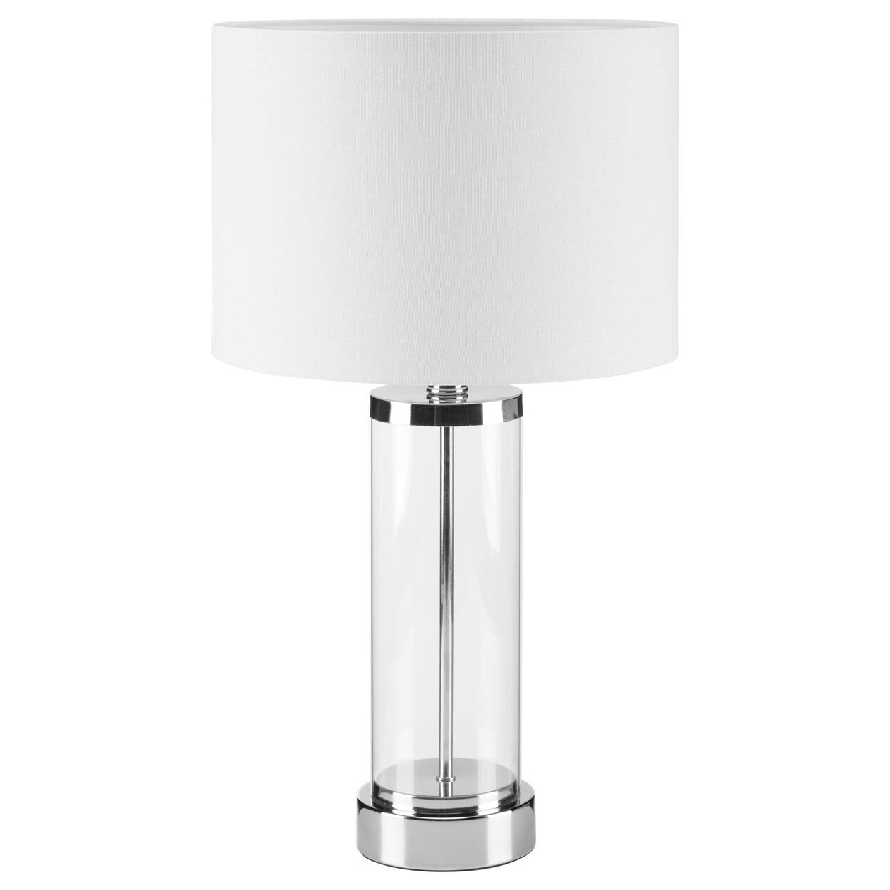 Glass and Chrome Table Lamp