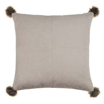 "Garrett Pompom Decorative Pillow 18"" x 18"""