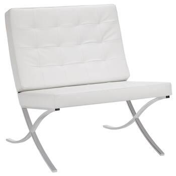 Barcelona Lounge Chair with Metal Legs