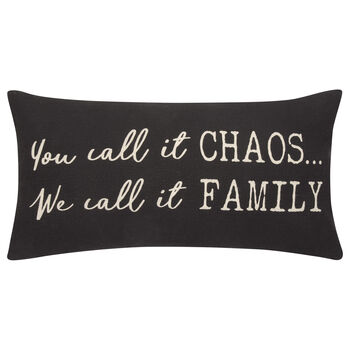 "We Call It Family Decorative Lumbar Pillow 11"" X 21"""