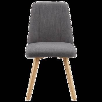 Chaise de salle à manger en tissu Chita et en bois