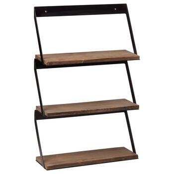 Metal and Wood Wall Shelf