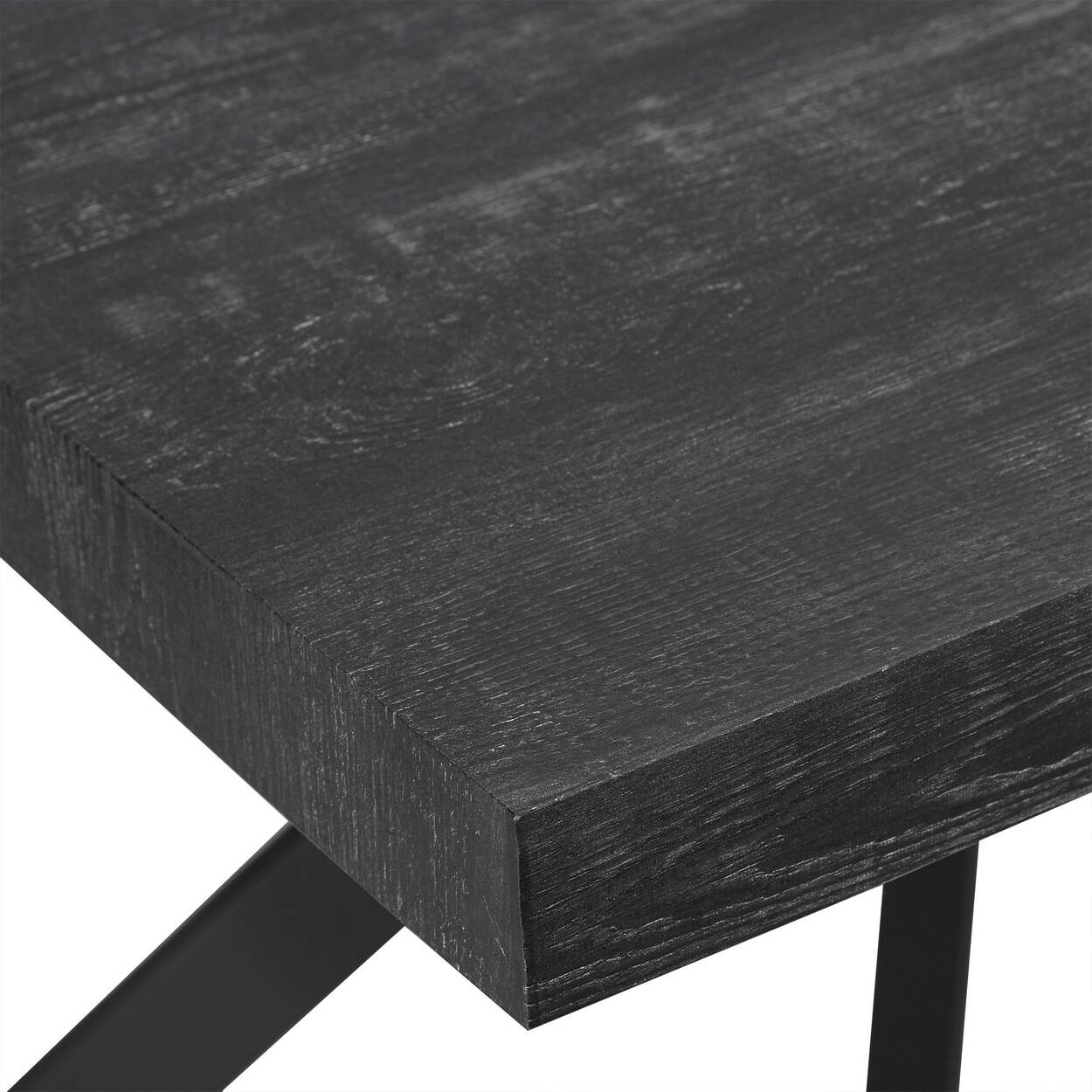 Veneer and Metal Dining Table