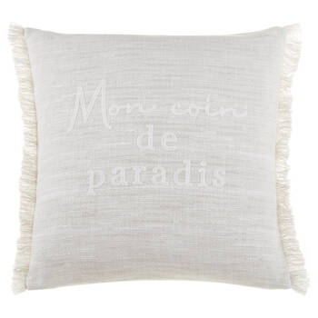 "Amina FrenchTypography Decorative Pillow 19"" x 19"""