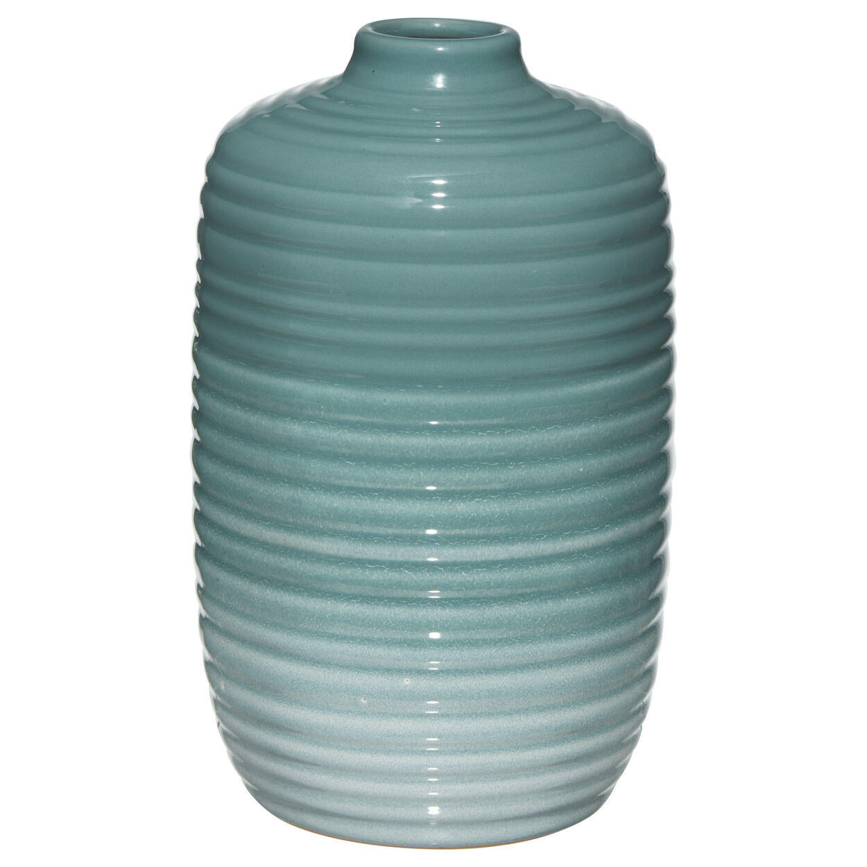 Ribbed Ceramic Table Vase