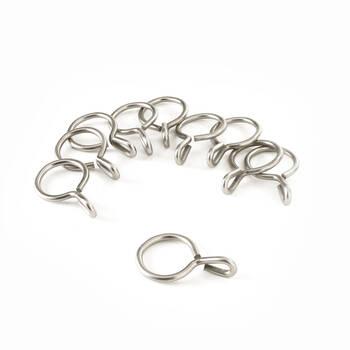 Set of 10 Metal Grommet Rings