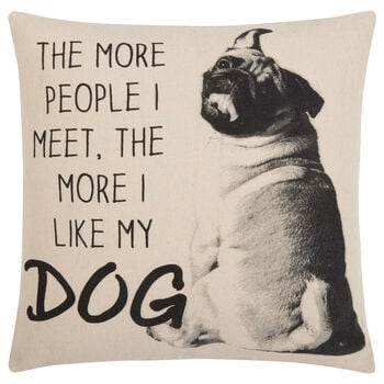 "I Like My Dog Decorative Pillow Cover 18"" X 18"""
