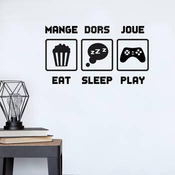 Eat Sleep Play Wall Sticker