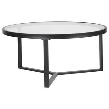 Table basse en verre et en métal