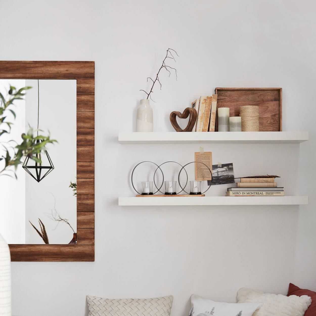 Wood Planks Mirror