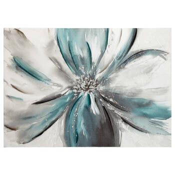 Oil Painted Floral Canvas