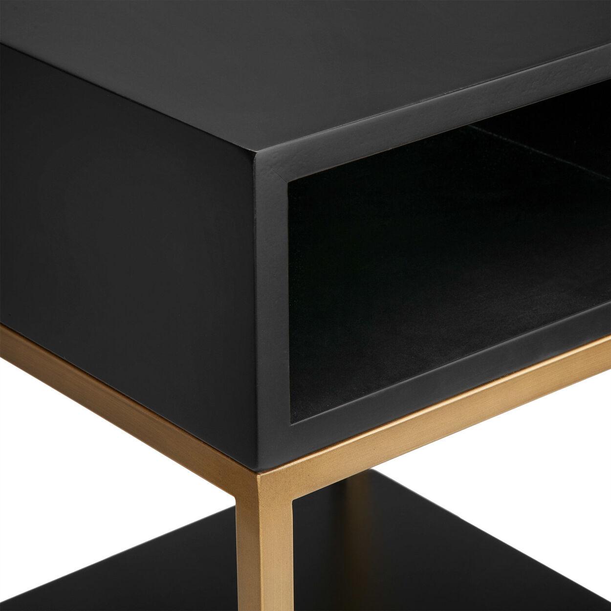 Calgary Wood and Metal Side Table