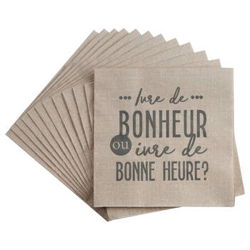 Set of 20 Bonheur Table Napkins