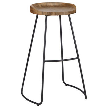 Wood and Metal Barstool
