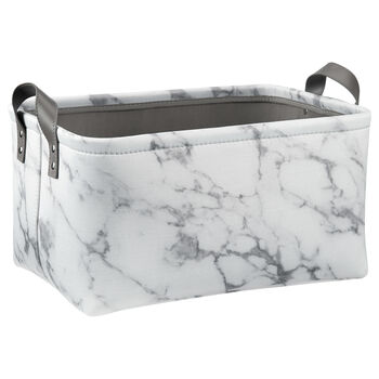 Large Marble Print Storage Basket