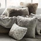 """Hare Faux Fur Decorative Pillow 14"""" X 22"""""""