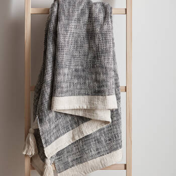 """Andra Throw with Tassels 50"""" X 60"""""""