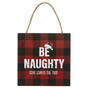 Be Naughty Wall Plaque