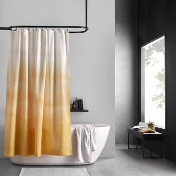 Rideau de douche dégradé jaune