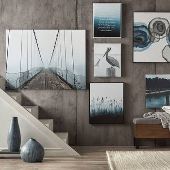 Sleeping Pelican Printed Canvas
