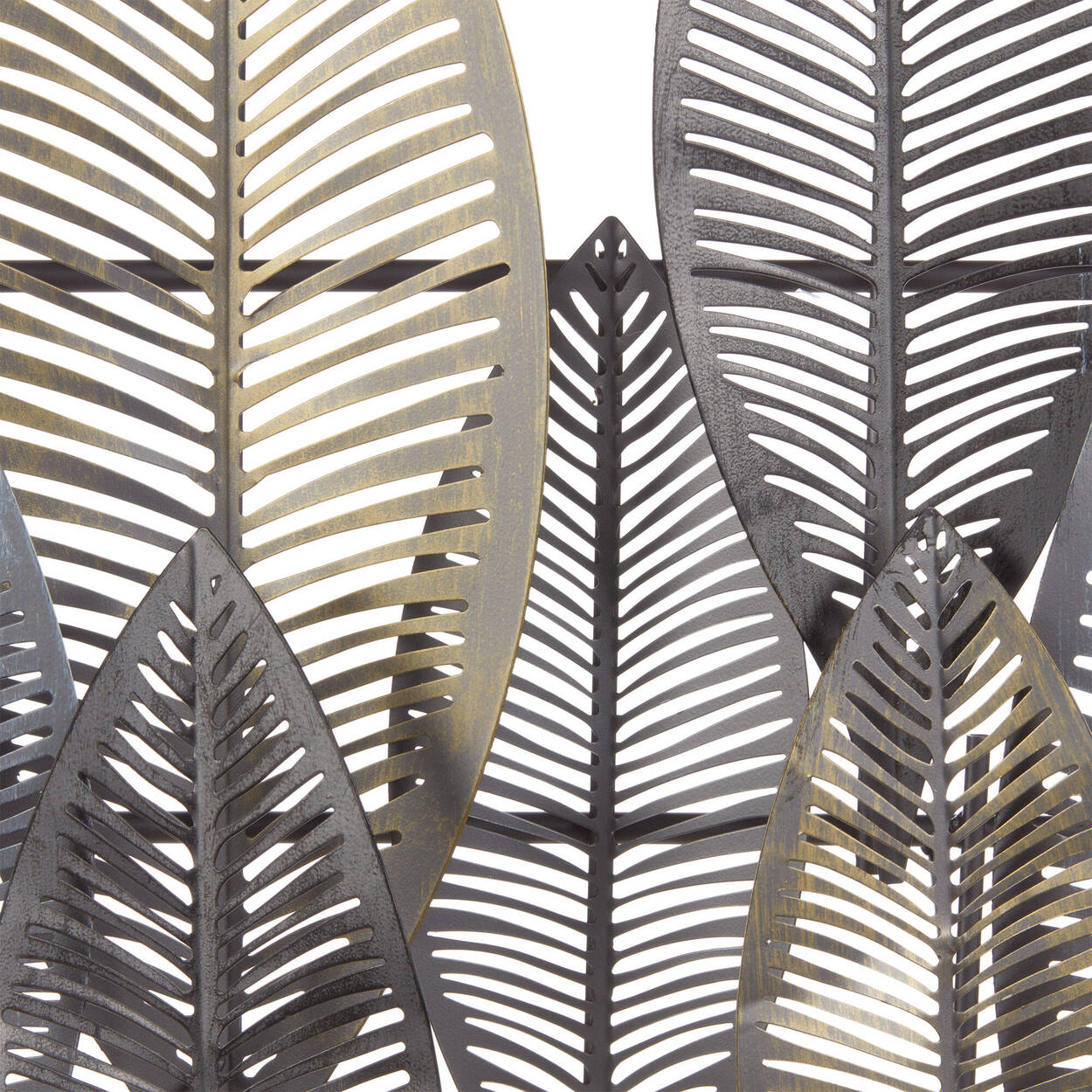 Art mural de feuilles en métal