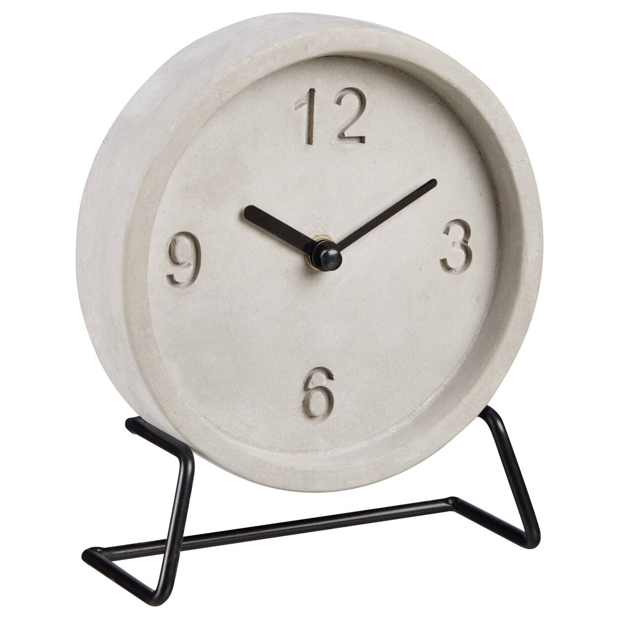 Horloge de table en ciment