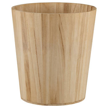 Natural Wood Waste Bin