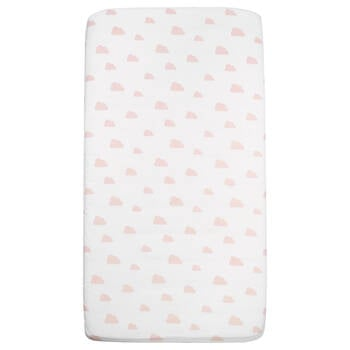 Fitted Crib Sheet with Clouds