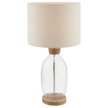 Glass and Linen Table Lamp