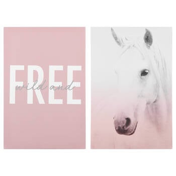 Wild and Free Printed Canvas