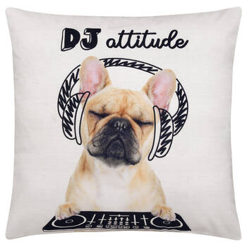 "DJ Decorative Pillow 18"" X 18"""