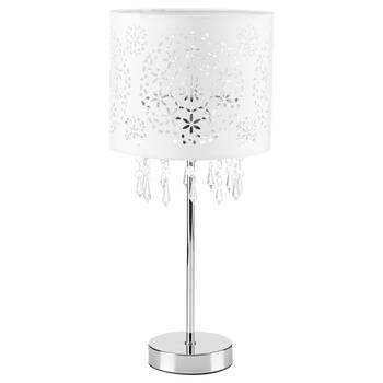 Cut-Out Metal Table Lamp with Decorative Droplets