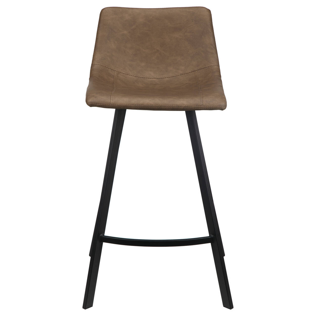 Faux Leather and Metal Bar Stool