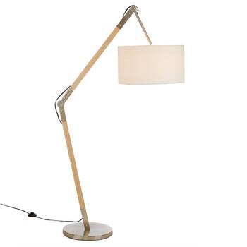 Adjustable Natural Wood Floor Lamp