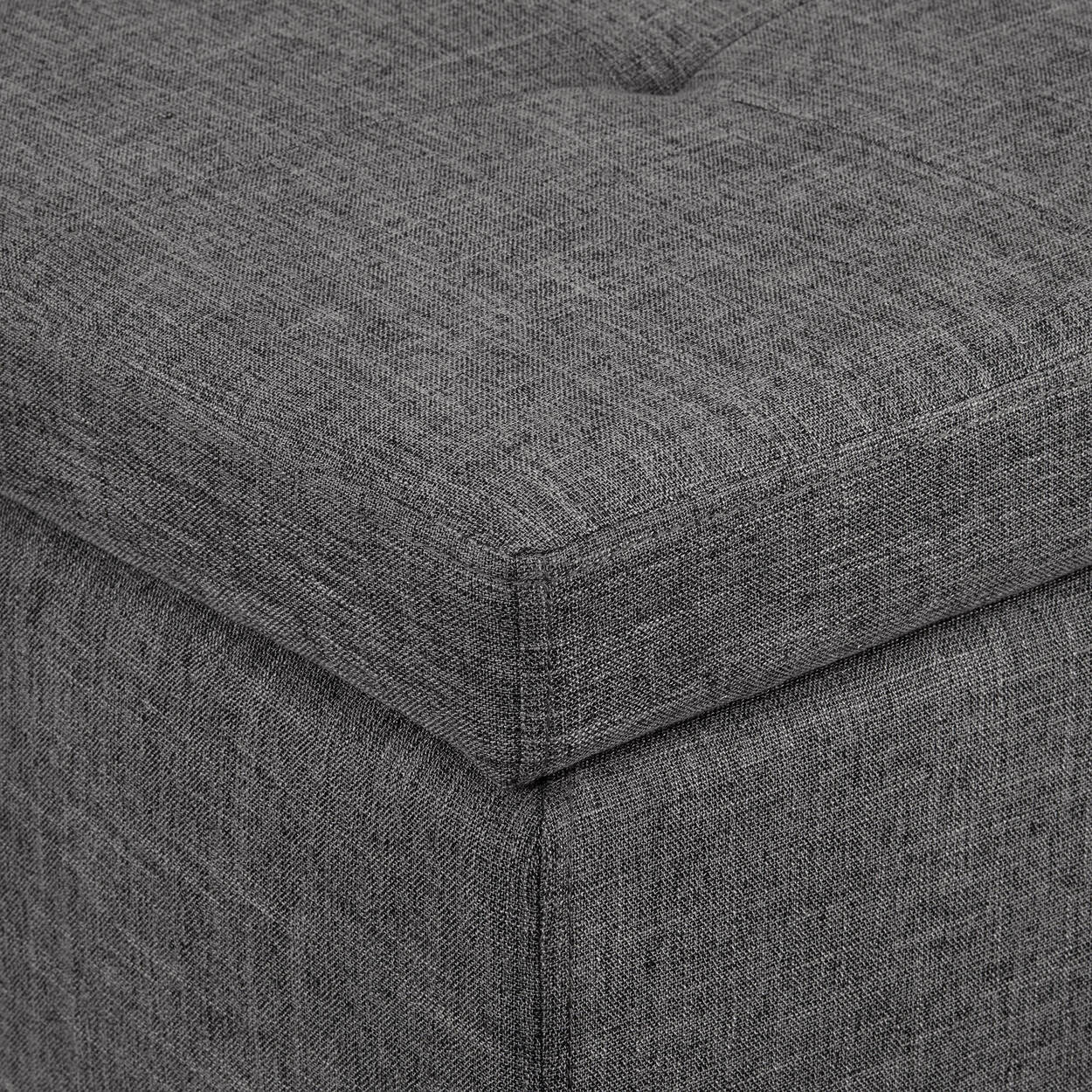 Chita Fabric and Wood Storage Ottoman