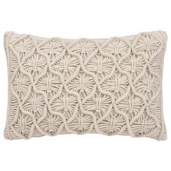 """Maco Macramé Decorative Lumbar Pillow 13"""" X 20''"""