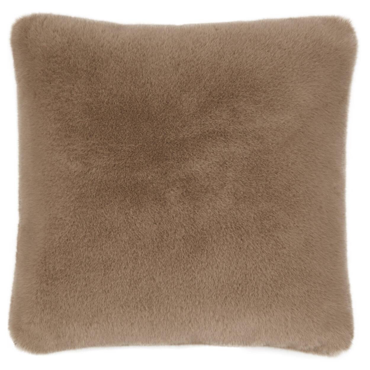 """Coyote Faux Fur Decorative Pillow 20"""" X 20"""""""