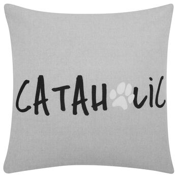 "Cataholic Decorative Pillow Cover 18"" X 18"""