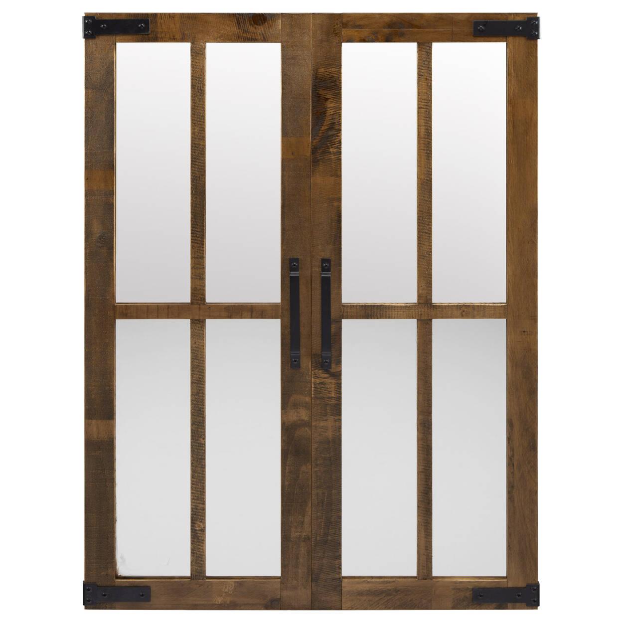Barn Door Wood Framed Mirror