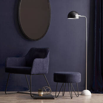 Metal and Marble Floor Lamp
