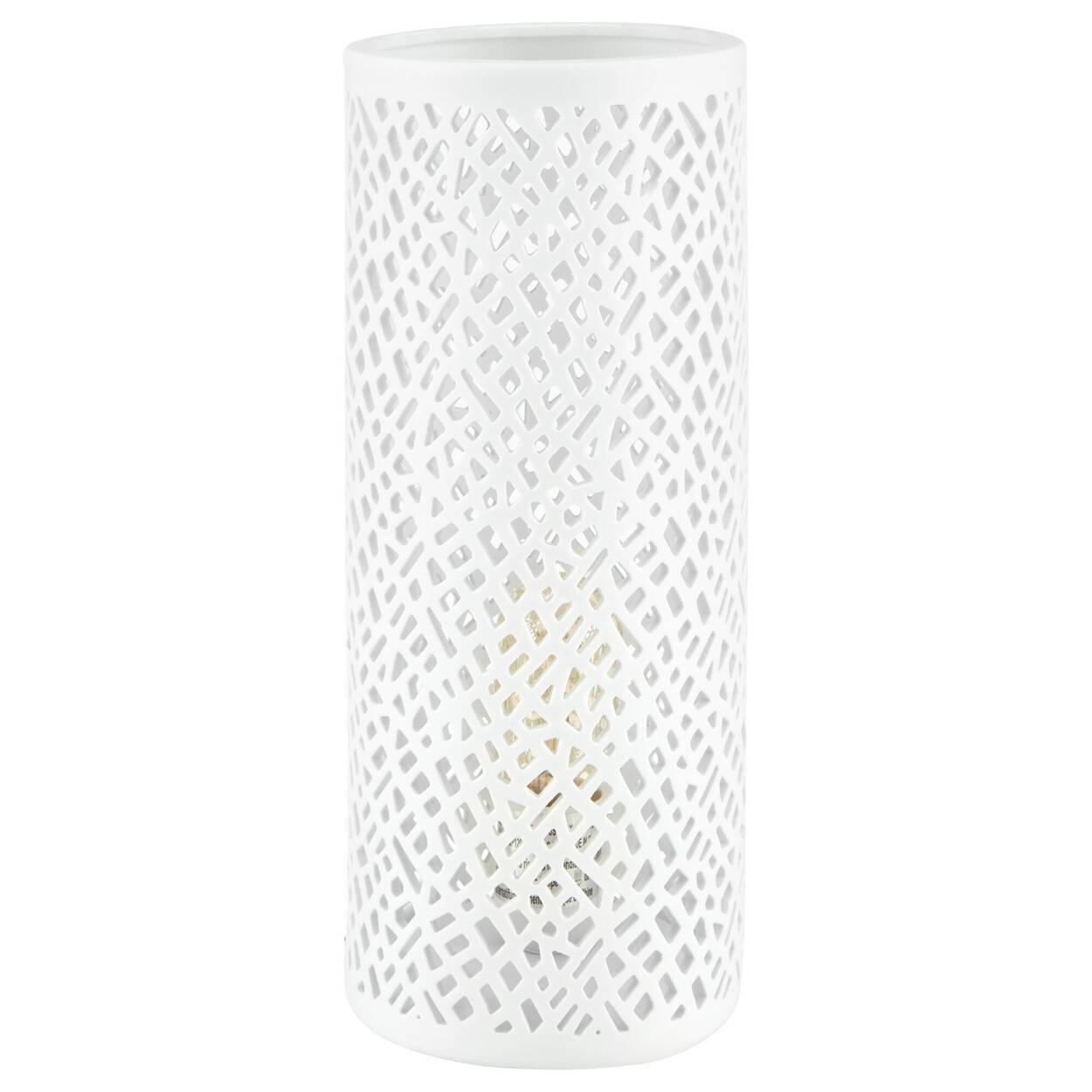Lampe de table tube ajouré avec découpes