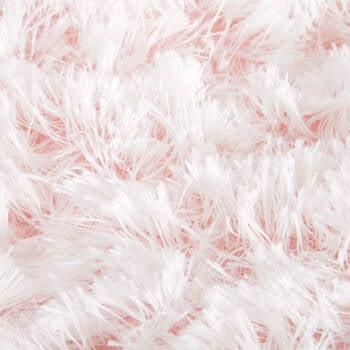 Furry Rug with Coloured Tips