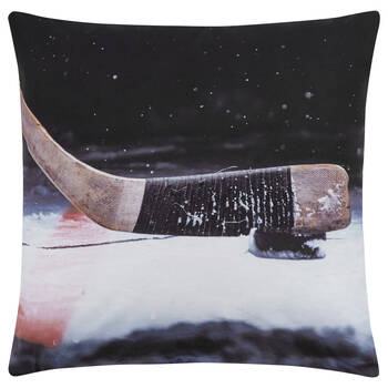 "Hockey Stick Decorative Pillow 18"" X 18"""